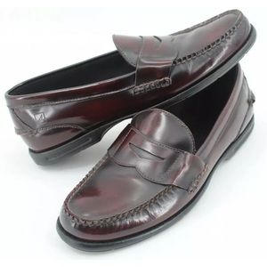 SPERRY TOP SIDER Burgundy Penny Loafers Sz 11.5 M